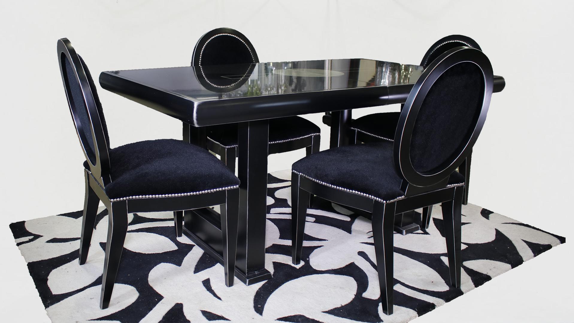Dorable Vestidor Muebles Negro Conjunto De Mesa Inspiración ...