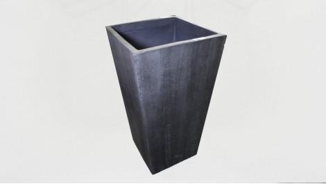 Macetero mediano resina gris