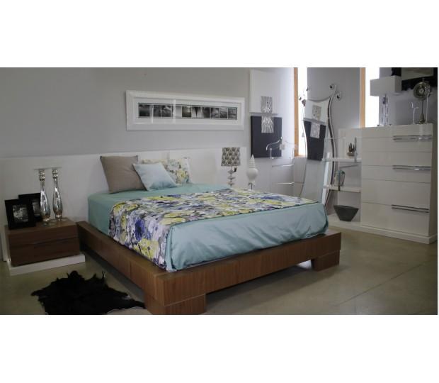 Dormitorio moderno blanco y nogal - Dormitorios blancos modernos ...